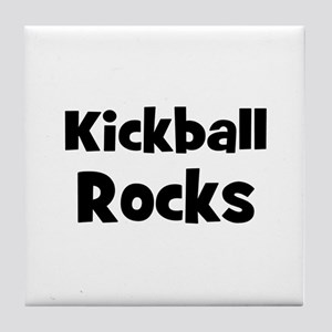 KICKBALL Rocks Tile Coaster